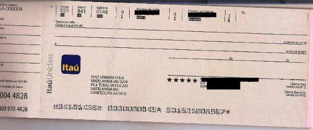Cheque Itau