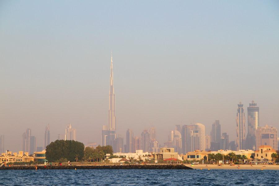 Vista para o Jumeirah Beach Hotel.