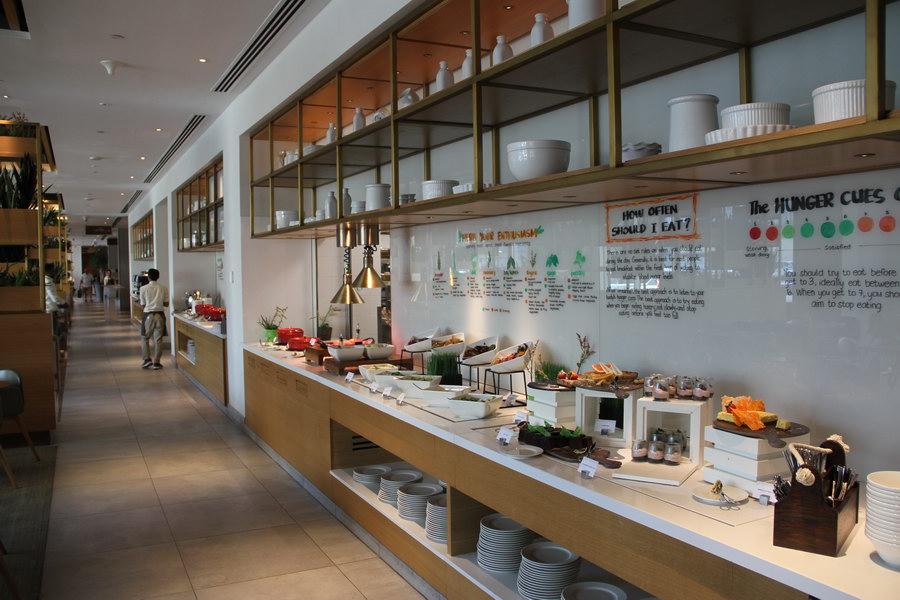 Café da manhã, no Hilton Garden Inn Dubai