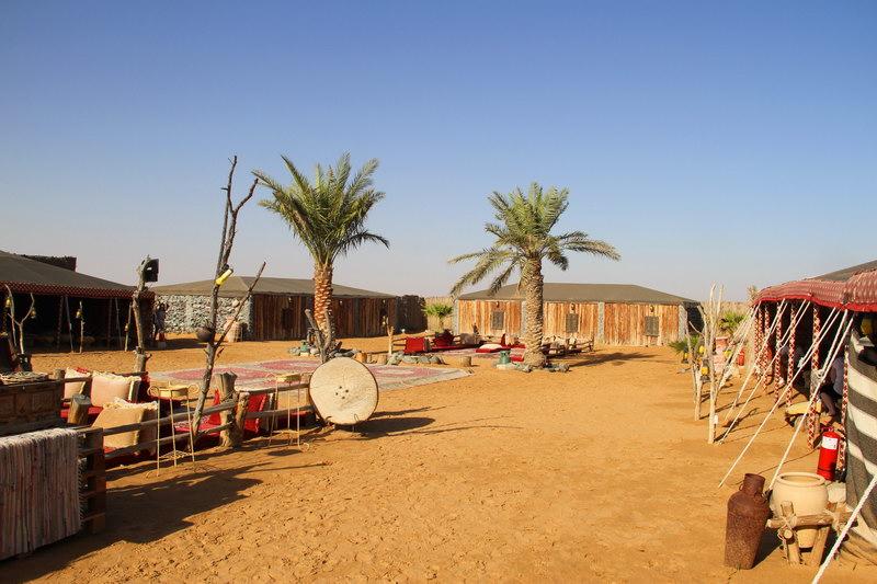 O acampamento beduíno.