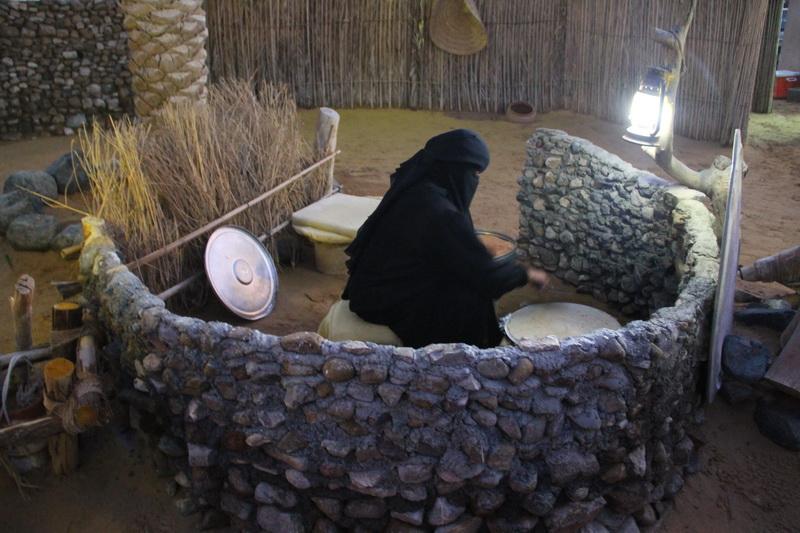 Pão árabe feito na hora.
