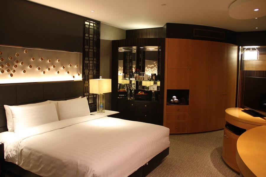 Visão ampla quarto Shangri-La Dubai