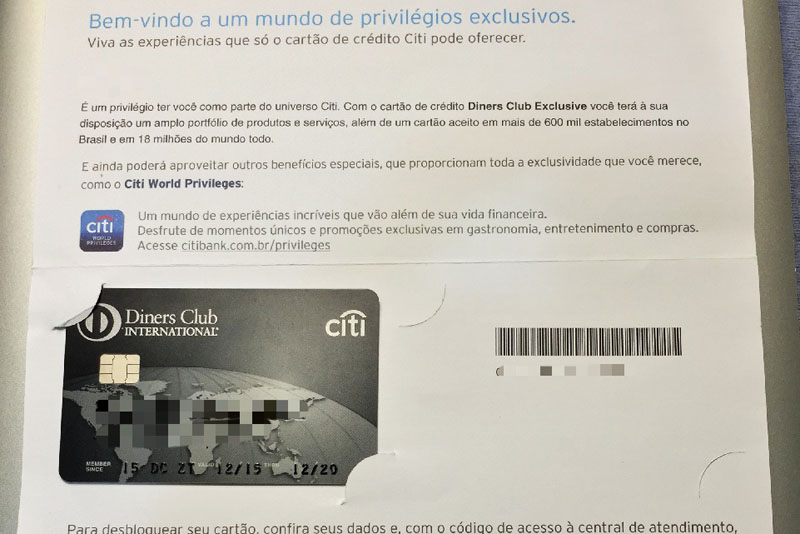 Cartao De Credito Diners Club International Exclusive Falando De