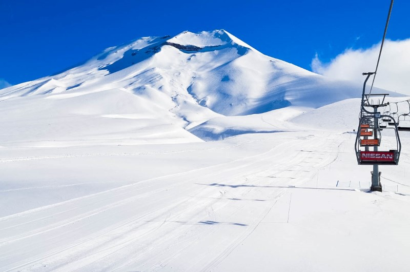 As montanhas de Corralco relaxam o viajante com o visual.