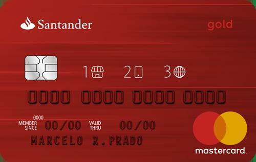 Artesanato Indigena Comprar ~ Cart u00e3o de crédito Santander MasterCard Gold 1 2 3