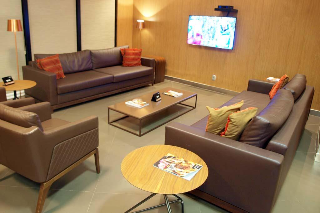 Espaço da sala VIP internacional.