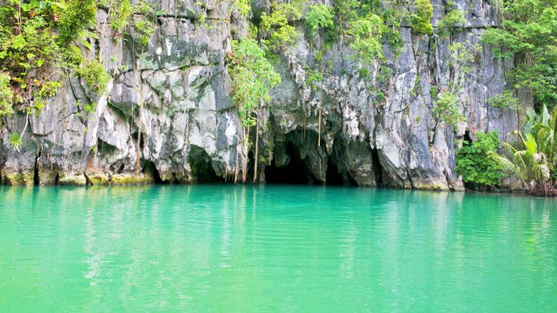O Parque Nacional de Puerto Princesa.