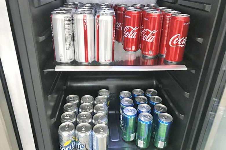 Opções de bebidas.