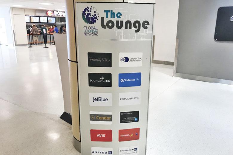 Convênios para ter acesso ao lounge.