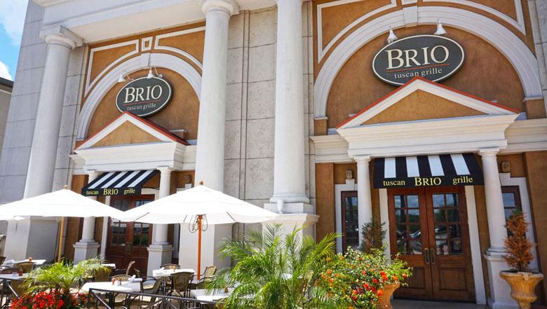 O restaurante está localizado em uma das principais entradas do shopping.