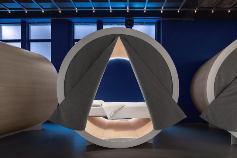 A tenda para o cochilo, preparada cuidadosamente para a melhor experiência possível.