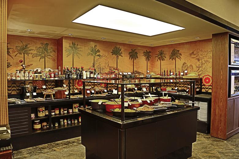 A área do buffet.