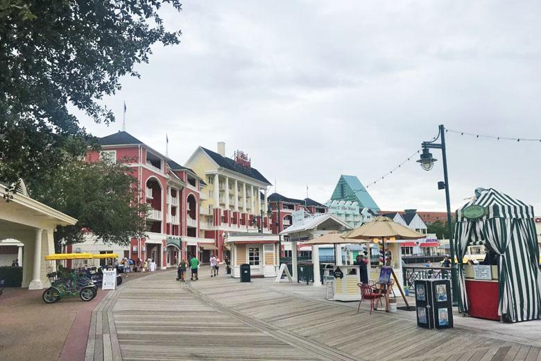 O agradável e charmoso Disney's Boardwalk.