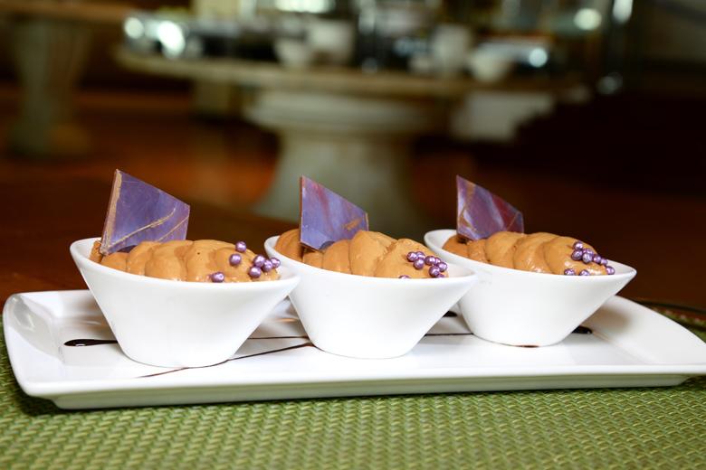 A deliciosa mousse de doce de leite do Enjoy Punta del Este.