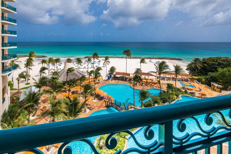 Vista da varanda do Hilton Barbados Resort.