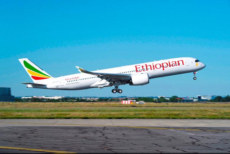 Aeronave da Ethiopian Airlines.