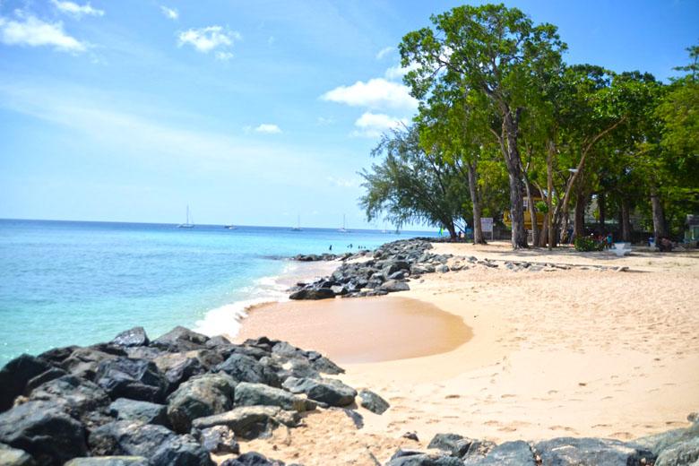 A entrada da área demarcada para snorkeling