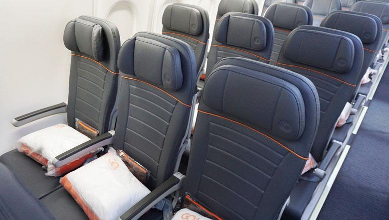 Assentos da Classe Econômica.