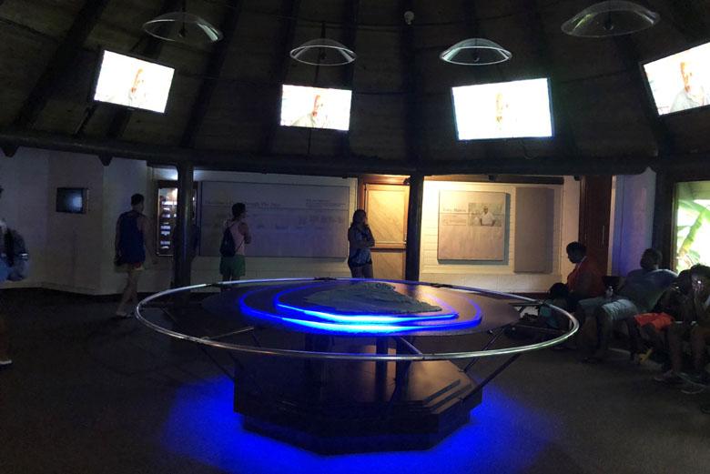 O museu onde começa o passeio com a explicação sobre a formação das cavernas.