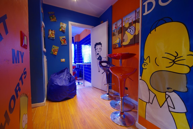O quarto do Comics Guesthouse.