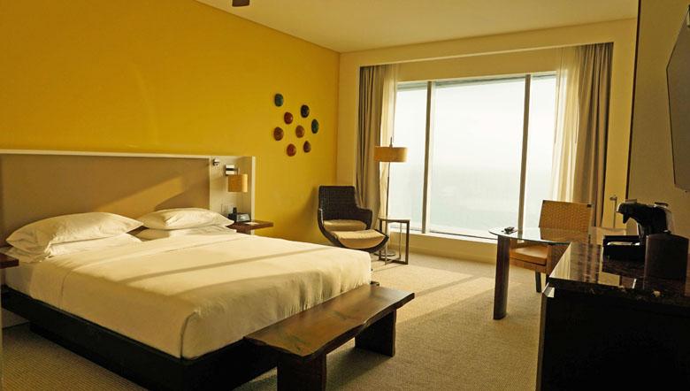 A linda vista dos apartamentos do Hyatt Regency Cartagena.