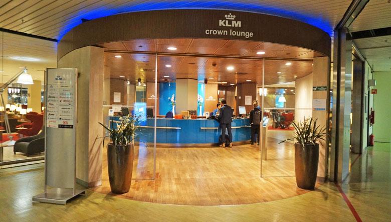 A entrada da sala VIP.