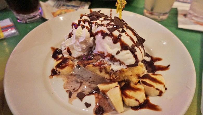 A deliciosa sobremesa, que dá para dividir.