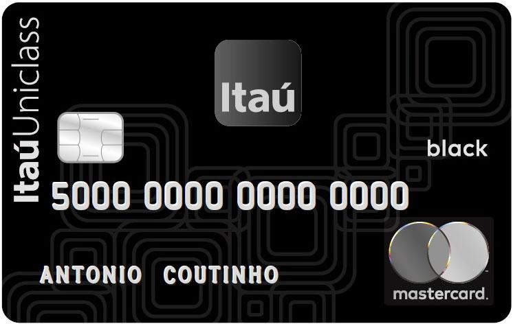Cartão de crédito Itaú Uniclass MasterCard Black.