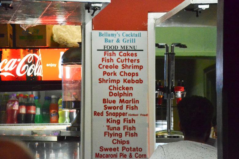 Opções de peixes e frutos do mar não faltam.