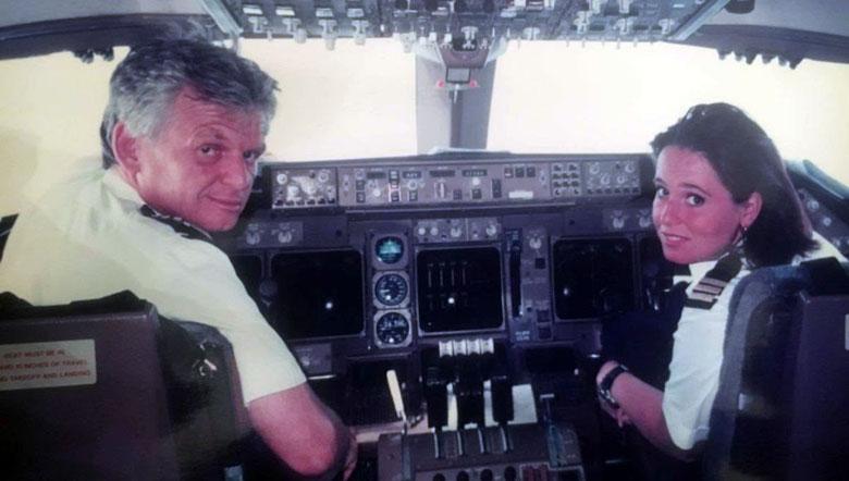 Marlies Beek no início de sua carreira, ao lado de seu pai Wim. Foto: Acervo pessoal.