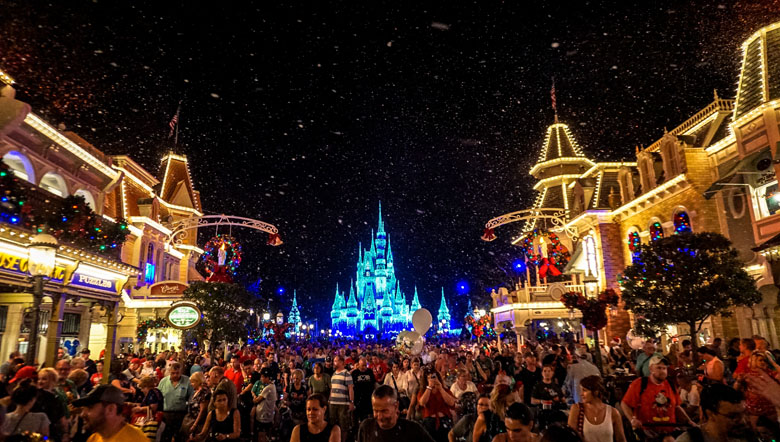 Festa de Natal do Magic Kingdom, em Orlando.
