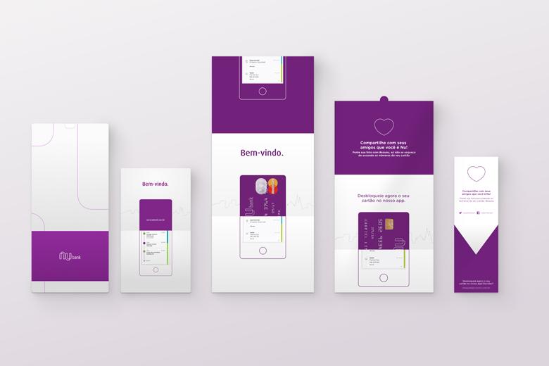 O kit de boas-vindas do cartão de crédito Nubank.