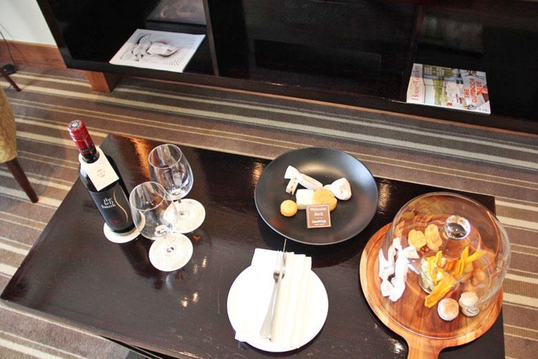 Os mimos oferecidos pelo hotel.