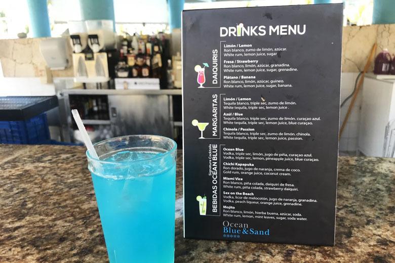 Um dos drinks do hotel.