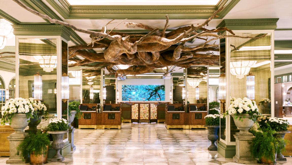 O lobby do Park MGM.