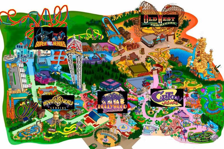 O mapa do parque.