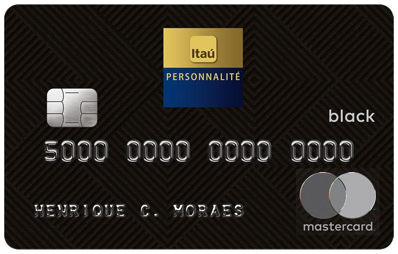 Cartão de crédito Itaú Personnalité MasterCard Black.