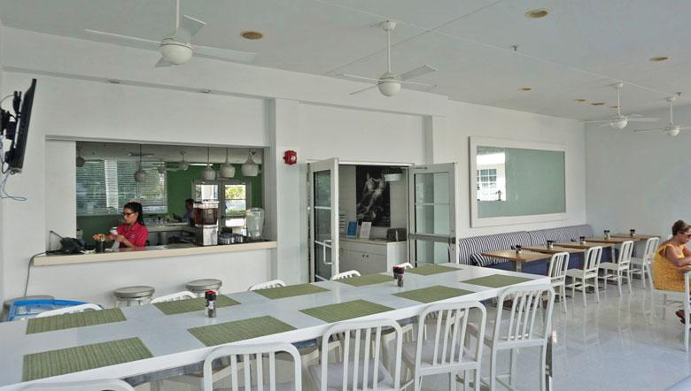 Ambiente externo do restaurante.