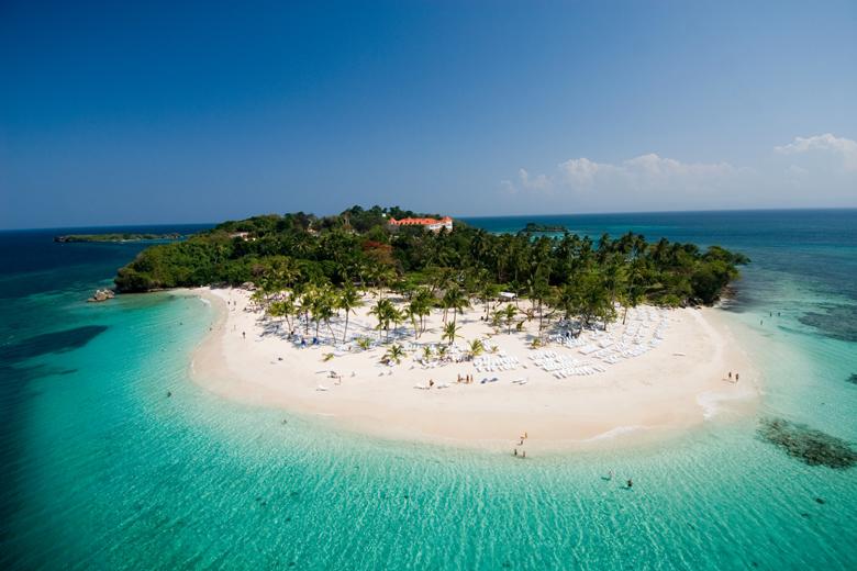 A paradisíaca Ilha Cayo Levantado, Samaná.