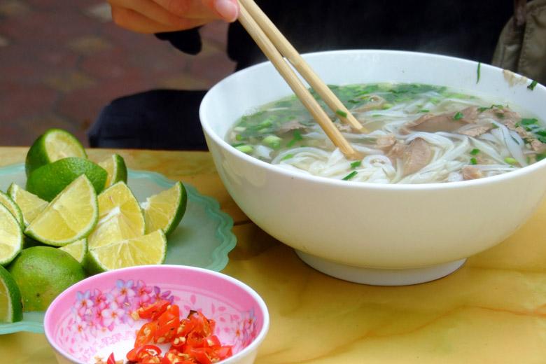 A deliciosa sopinha do Vietnã.