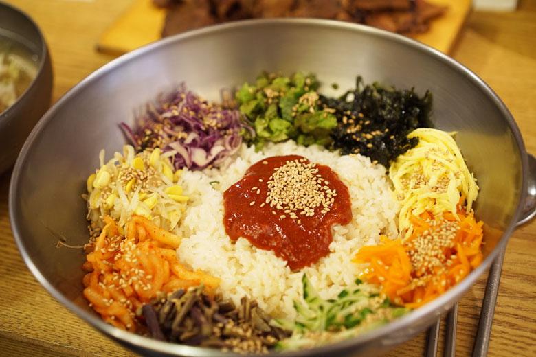 A comida do dia-a-dia dos coreanos.