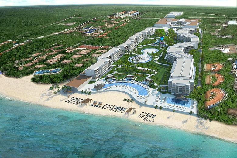 Localizado em frente à praia, o resort pode ser considerado um pequeno paraíso.
