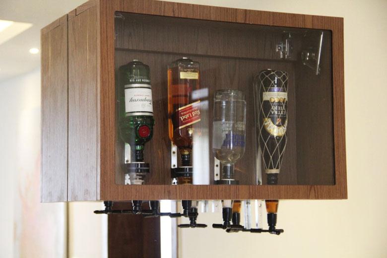 Algumas das bebidas do bar.