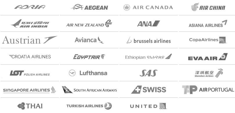 Companhias aéreas que fazem parte da Star Alliance.