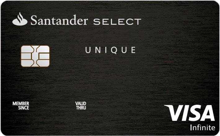 Cartão de crédito Santander Select Unique Visa Infinite • Falando de ... 93bec57214