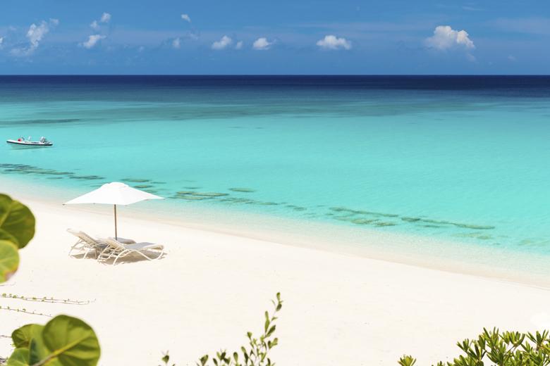 As praias de Turks and Caicos são conhecidas pelo contraste as areias brancas com a água turquesa.
