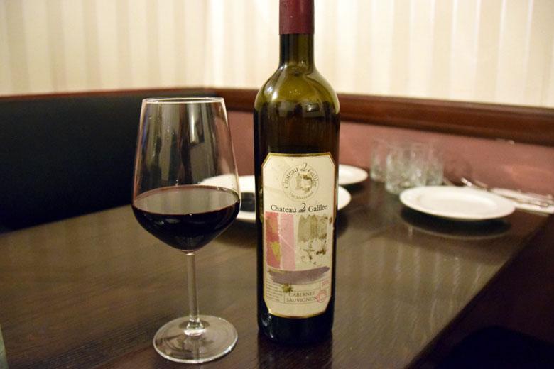 Vinho produzido na Galiléia, região no norte de Israel