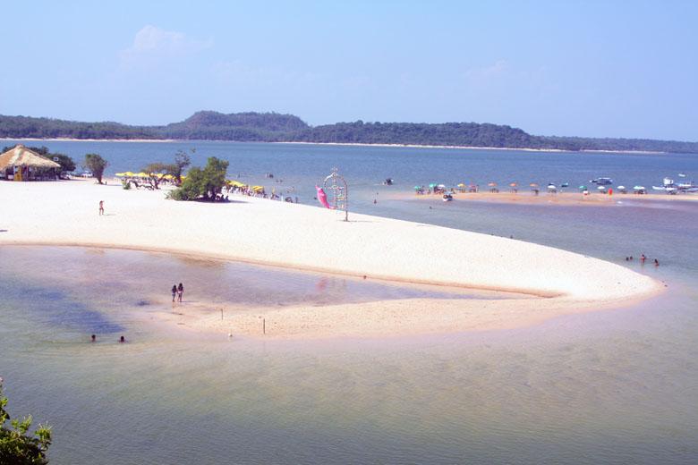 As praias Amazônicas.