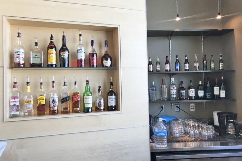 Opções de bebidas da sala VIP.