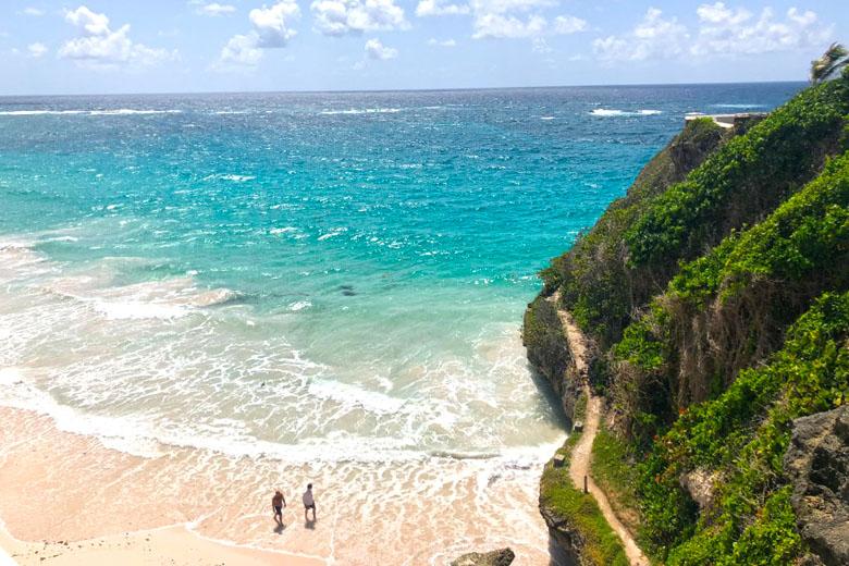 A Crane Beach é considerada uma das mais belas de Barbados.